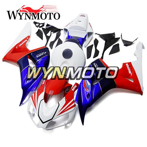 Neues purpurrotes rotes weißes Motorrad-komplettes Verkleidungs-Installationssatz für Honda CBR1000RR 2006 2007 CBR 1000RR 06 07 ABS Plastikeinspritzungs-Karosserie-Platten