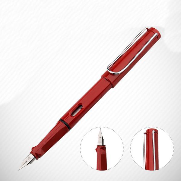 Moda 359 Pluma Estilográfica Serie Mediana 0.5mm Plumilla de tinta Rojo Estudiante de Caligrafía Caligrafía Negocio Papelería Útiles Escolares