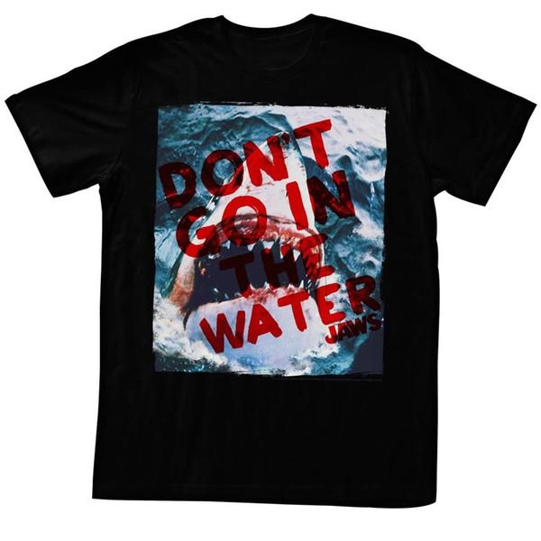 Челюсти футболка не идут в воде черный тройник футболка мужская мужская Демин белый с коротким рукавом пользовательские большой размер команды футболки