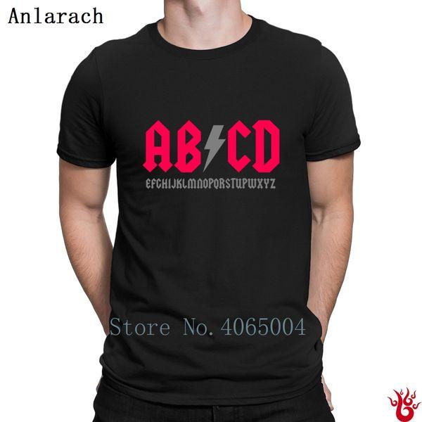 Camiseta Parodia Abcd Camiseta estampada algodón hip hop normal para hombres 2018 Moda antiarrugas nueva S-3xl Ocio