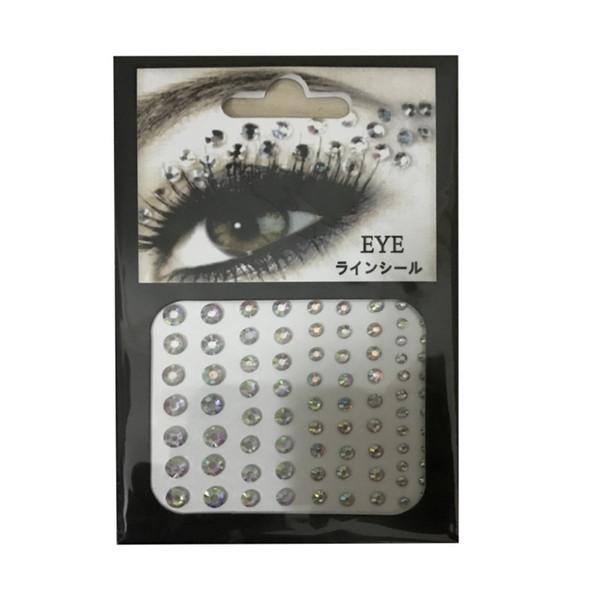 Moda Kadınlar Jewel Gözler Makyaj Kristal Gözler Sticker Dövme Eyeliner Elmas Glitter Makyaj Etiket Gelin Parti