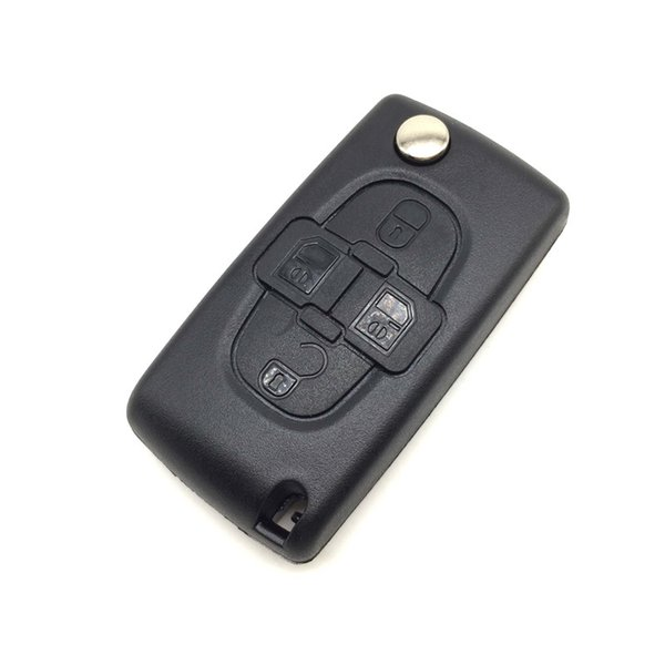 4 Buttons Replacement Car flip Key Case Shell Blank For Citroen and peugeot