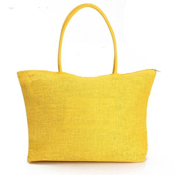 Wholesale-2015 Summer Style Beach Bag Purse Handbag Hot New Design Straw Popular Weave Woven Shoulder Tote Shopping Gift FreeShipping N770