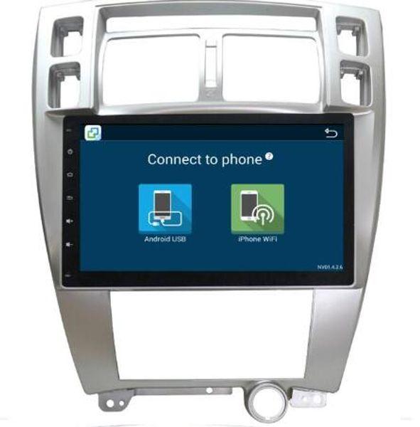 1G Ram Android 6.01 Araç Ses Hyundai Tucson 2006-2013 için Ana Ünite Stereo Vedio GPS Navi Multimedya Radyo PC Monitör 4G