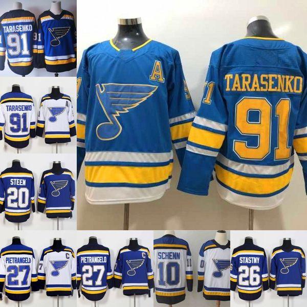 newest b4bb0 fe7d2 2019 #91 Vladimir Tarasenko Jersey St. Louis Blues 20 Alexander Steen 17  Jaden Schwartz 27 Alex Pietrangelo 55 Colton Parayko Hockey Jerseys From ...