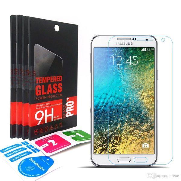 9H 0.33mm 2.5D Explosion Proof Anti Scratch Tempered Glass Screen protector Flim For Samsung Galaxy E7 E700F E5 E500F With Retai-Box