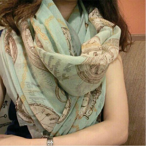 Fashion Women Long Print Bali yarn Scarf Wrap Ladies Shawl Beach Scarves size 165*55cm
