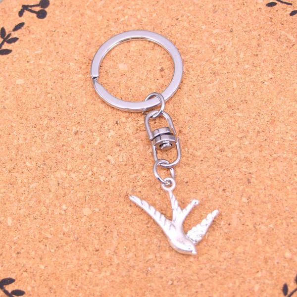 New Design flying swallow bird Keychain Car Key Chain Key Ring silver pendant For Man Women Gift