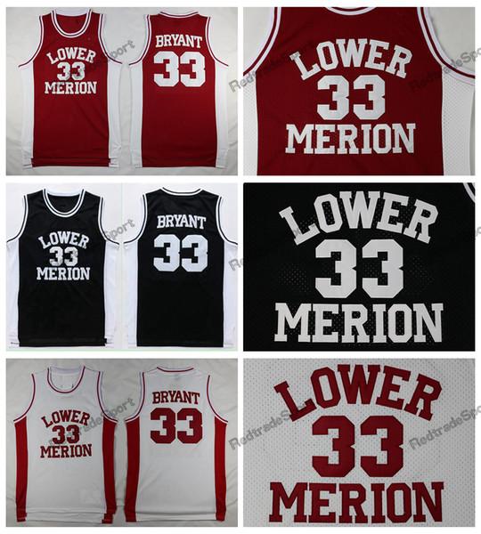 Mens Vintage 33 Kobe Bryant Lower Merion High School Basketball Jerseys  Light Blue Cheap Kobe Bryant Stitched Shirts 5866afe99
