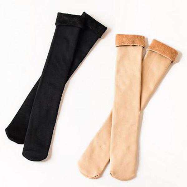 Nuove calze da donna del 2018 autunnali e invernali lunghemente addensate più calze e ginocchi invernali in velluto caldo