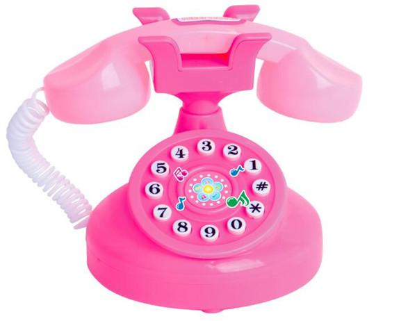 WXFTDMULIUFENG Yeni Eğitim Pembe Telefon Oyuncaklar Oyna Pretend Kızlar Oyuncak Telefonu Çocuk Hediyeler