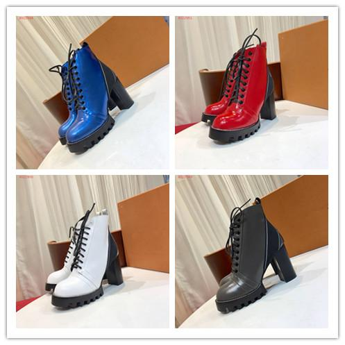 Womens designer winter snow Boots luxury brand high heels casual shoes top quality fashion prints half boot girls designer sneakers