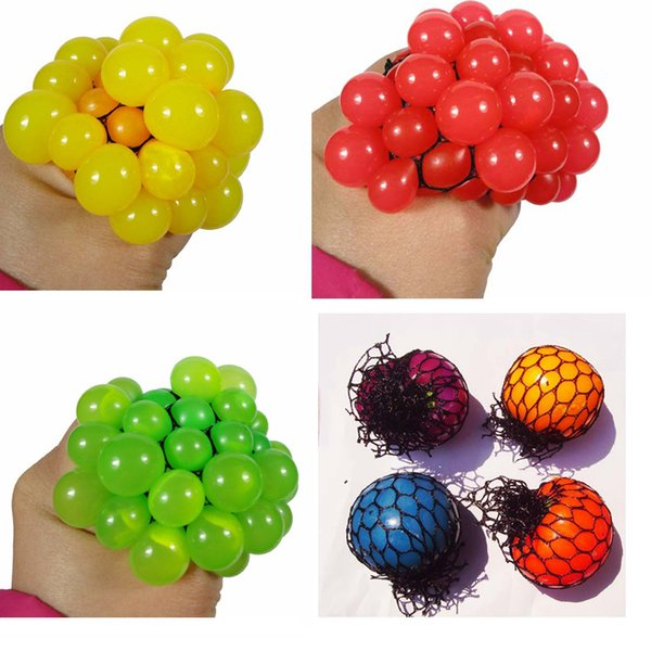 Adults Men Toys 2018 New Anti Stress Ball Novelty Fun Splat Grape Venting Balls Squeeze Stresses Reliever Toy Funny Gadgets Gift