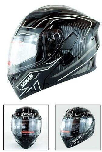 Motorcycle Helmets Flip Up Built-in Bluetooth Double Lens Capacete Motor Helmets