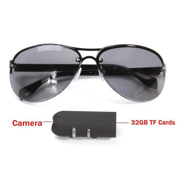 Mini Camera HD Sunglasses 1080P Glassess Micro Video Camera Recorder Secret DV Security Bicycle Invisible Fashional