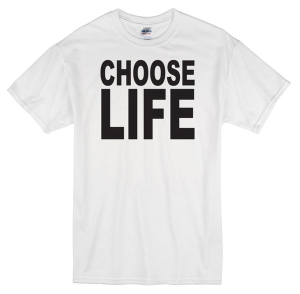 Choose Life T-Shirt White New George Michael Wham 80s Mens T Shirt Summer O Neck Cotton Round Neck Teenage Pop Top Tee
