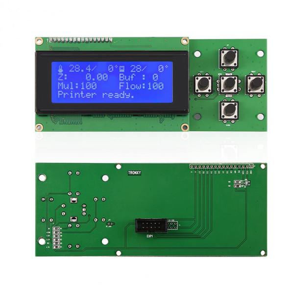 5 tasti 20 x 4 Modulo LCD Blacklight LCD con cavo piatto a nastro per stampante 3D