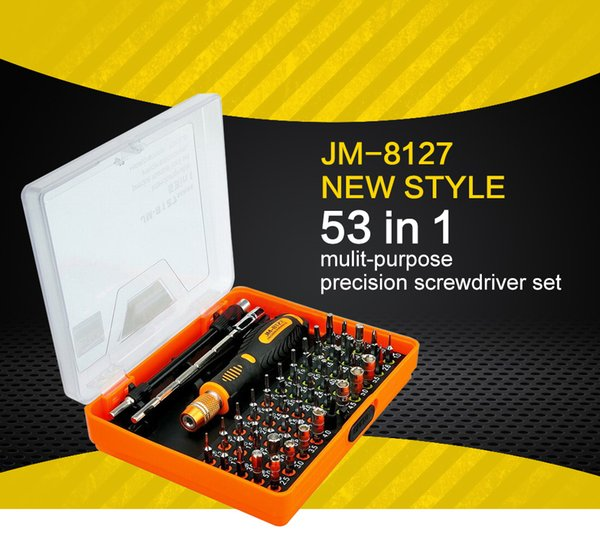 JAKEMY 8127 53-in-1 manicotto manuale strumento di precisione cacciavite strumento di riparazione del telefono cellulare di casa iPhone computer