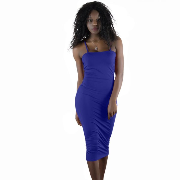 Jupe longue couleur unie bandage robe jupe longue nouvelle discothèque des femmes sexy robe décontractée)