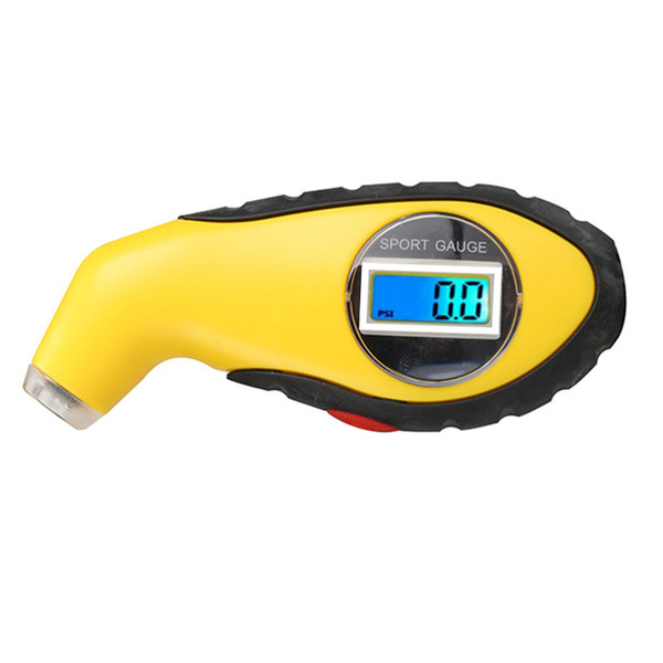 top popular by dhl fedex 100pcs lot Tyre Air Pressure Gauge Meter Electronic Digital LCD Car Tire Manometer Barometers Tester Tool For Auto Car Motor 2020
