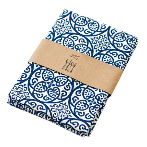 Fashion cloth Napkins 100% cotton heat insulation mat dining table mat table Napkin fabric placemats 45*65cm