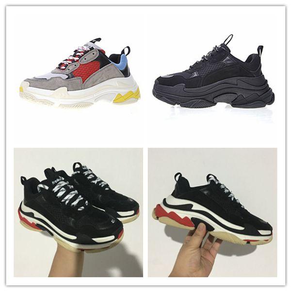 Yeni-BL Erkekler Kadınlar için Üçlü 17FW Sneakers Sneakers Koşu ayakkabı Vintage Kanye West Eski Grandpa Eğitmen Sneaker moda ayakkab ...