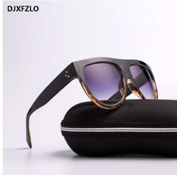 DJXFZLO Gafas Moda Mulheres Óculos De Sol Da Marca de Luxo Designer de óculos de Sol Do Vintage Grande Full Frame Óculos Mulheres Óculos