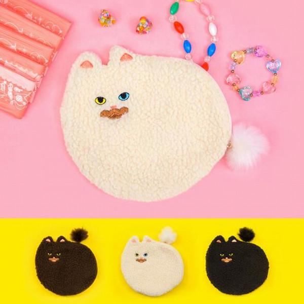 NEW Cute Cat Design Hand Bag For Women Small Day Clutch Bag Bolsa Feminina Cartoon Organizer Pouch Purse Kawaii Coin Purse