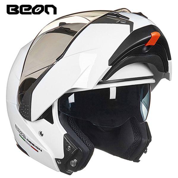 BEON Modular Motorradhelm Flip up Öffnen Full Face Helm Moto Casque Casco Motocicleta und Doppel Visiere Helme ECE
