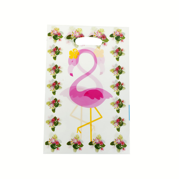 Wedding Party Birthday Baby Shower Decoration Flamingo Event Party Supplies 10PCS Cartoon Flamingo Bag Creative Candy Gift Bags