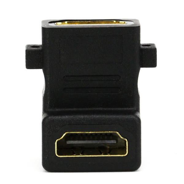HD01 HDMI Female to HDMI Female F/F Cable Adapter Extender Converter 90 Degree Angle For Tablet PC TV Camera