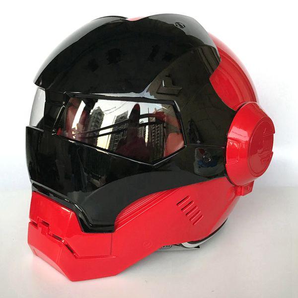 New MASEI Bright Black &Red / Grey &Red Iron Man helmet 610 motorcycle ABS half open face helmet casque motocross M L XL