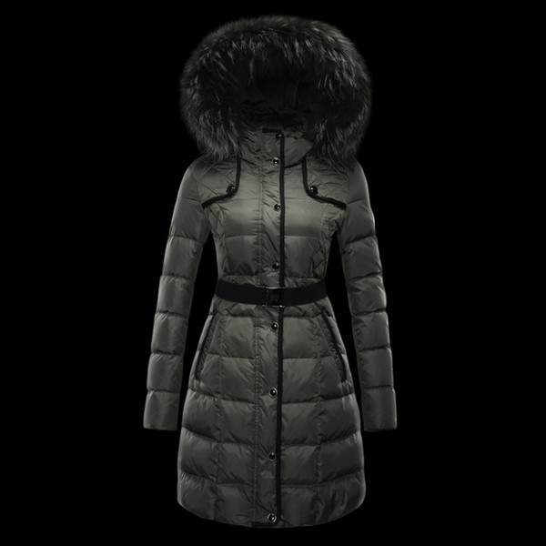 The female warm long Down jacket,the cotton Women's Down & Parkas , slim and fashion 3 style