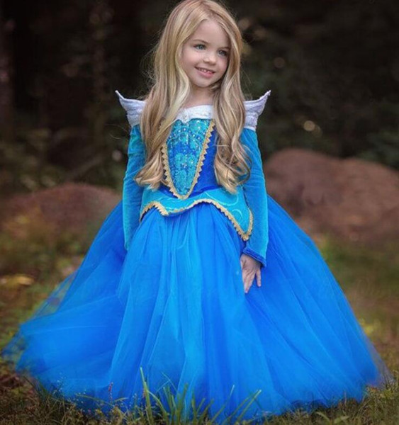 Großhandel 2018 Mädchen Kleider Prom Kleider Gefrorene Prinzessin ...