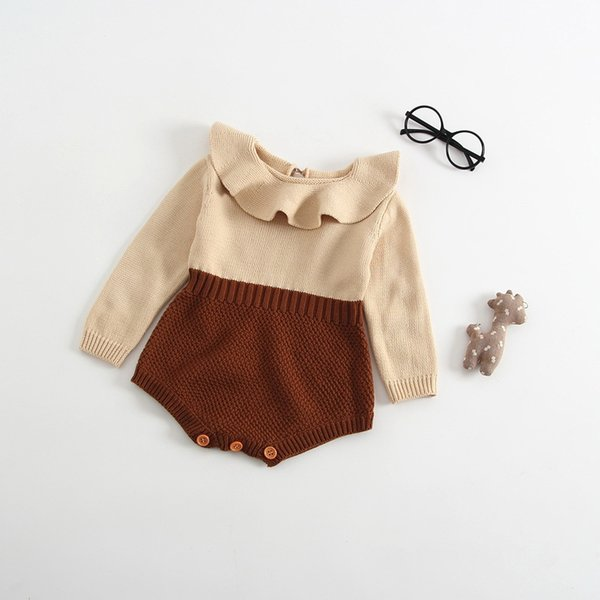 913bcdb5392f Everweekend Spring Autumn Cute Baby Knitted Romper Newborn Baby Clothes  Kids Girls Boys Long Sleeve Jumpsuit Infant Clothing