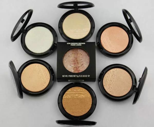 Envío de la nueva marca de maquillaje facial de vacaciones en polvo bronceador extra Dimensión Skinfinish 9 g de polvo de cara 12 diversos colores 6pcs / lot