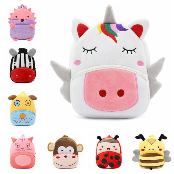 30 styles Toddler Kids Animal Children Boy Girl Cartoon Backpack Schoolbag Shoulder Bag Rucksack baby boy and girls bags MMA448