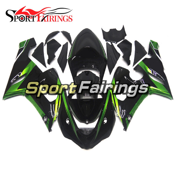 ABS Green Black Plastic Hulls For Kawasaki ZX-6R Year 2005 - 2006 ABS Injection Motorcycle Bodywork High Quality Fairing Motorcycle Hulls