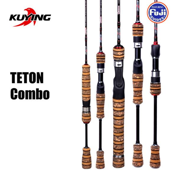 KUYING TETON 1.56 m 1.8 m 1.86 m 1.9 m 1.92 m 1.98 m Super Ultra Macio Baitcasting Fundição Spinning Isca Vara De Pesca Pólo Cana de Combinação