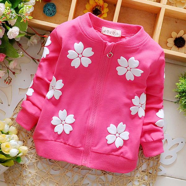 2c2ee0e1c Nueva ropa de bebé primavera niñas niños marca abrigos de algodón para niño  niña flores cardigan