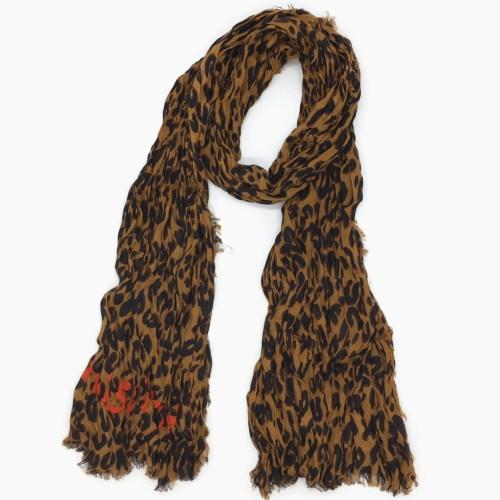 Autumn and winter classic print leopard pattern cotton material creasing Ms.children Scarf small size 170cm -60cm