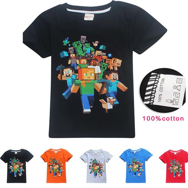 2018 baumwolle T-shirt Marke Spiderman Jungen T-shirt Kinder T Sommer Jugend Mädchen Neue Abenteuer Tops Kinder Kleidung 10 jahre Gta 5