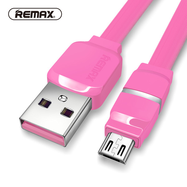 Breathe LED Micro USB data cable 2.1A fast charging sync Transfer Flat charger cable with smart for /xiaomi REMAX