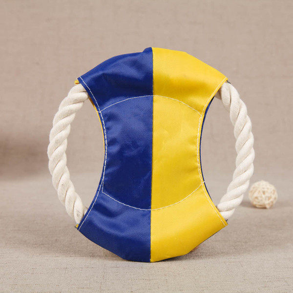 Cotton rope interactive chew toy circular di c dog cat toy pet training cleaning teeth toy