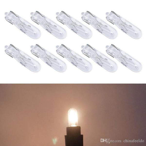 30pcs Warm White Car T5 Wedge 12V 1.2W Halogen Bulb External Halogen Lamp Replacement Dashboard Bulb Light #2933