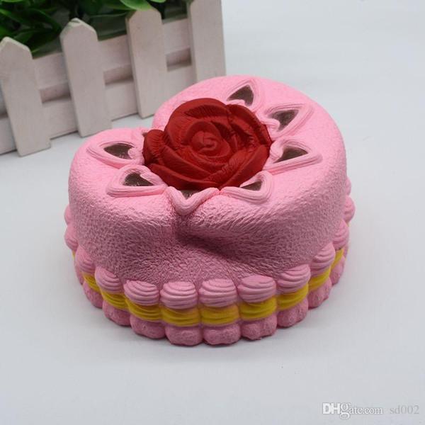 Neuheit Rose Kuchen Squishy Langsam Rebound Stress Relief Venting Spielzeug Squishies Simulation Brot Dekompression Spielzeug Geschenke Artikel 15bx ii