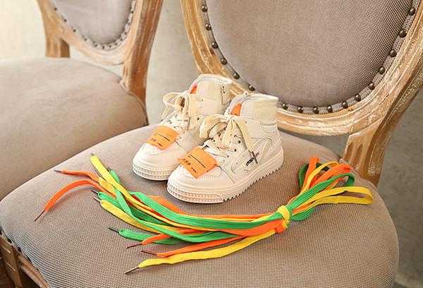 Acheter Chaussures Enfants Chauds Garçon Couleur Baskets À Lacets Filles Style Bébé Chaussures Livraison Gratuite En Gros Taille 23 34 De $47.27 Du