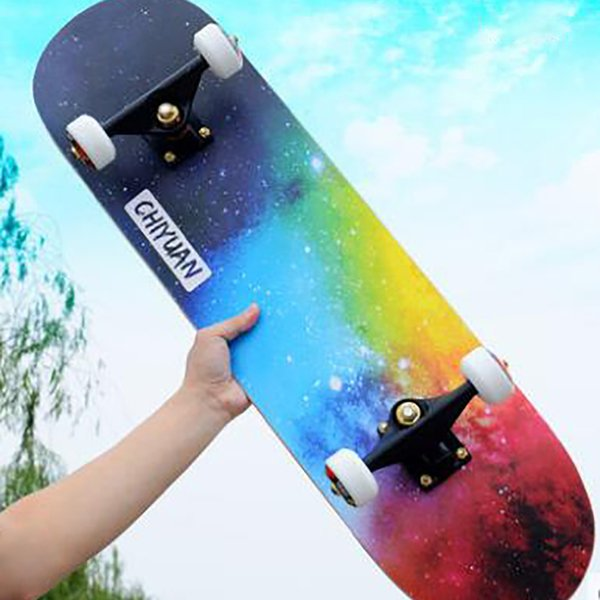 80*20 CM Four Wheel Skateboard Adult Skate Board Professional Road Children Walking Maple Double Rocker 4 Wheels Scooter