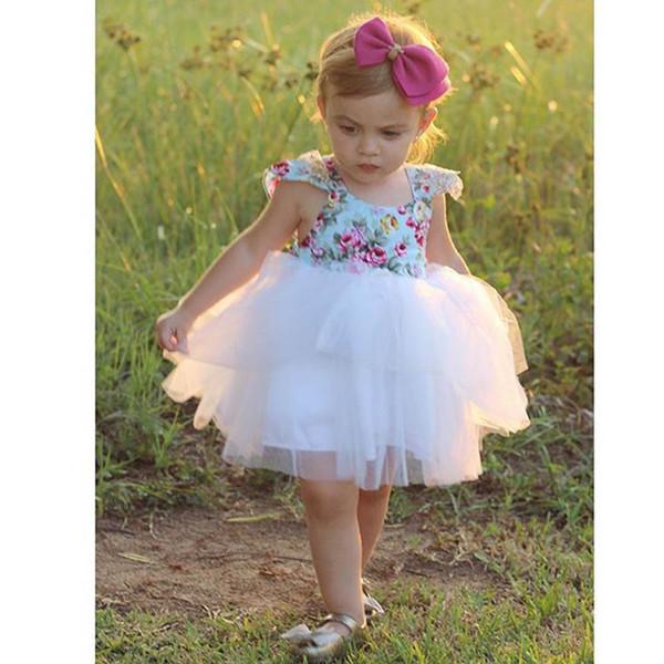 Nouveau-né Enfants Enfants Bébé Filles Robe Tenues D'été Fête Mignon Tutu Sundress 998