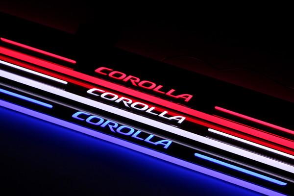 Pedale dello scuff leggero della luce LED per Toyota Corolla 2014 2015 2016 acrilico dell'automobile pedale benvenuto principale del davanzale della porta